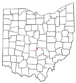 Location of Pickerington, Ohio
