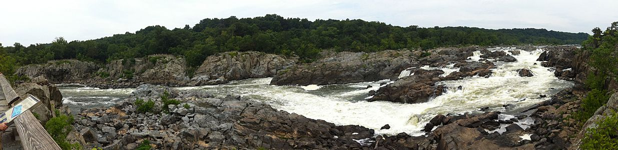 Potomac Great Falls panorama (from Maryland)