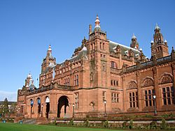 Side View of the Kelvingrove Art Museum