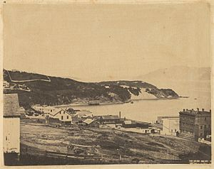 View of North Beach, from Telegraph Hill, 1856