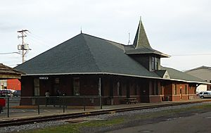 City of Norwich in New York State 34 train station
