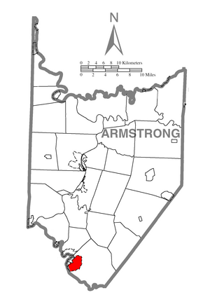 Location within Armstrong County