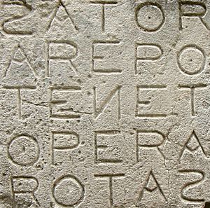 Sator Square at Oppède