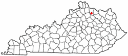 Location of Mount Olivet, Kentucky