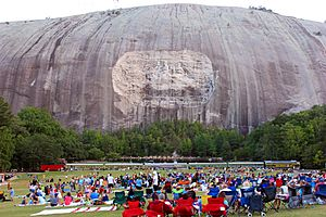 Stone Mountain, the carving, and the Train