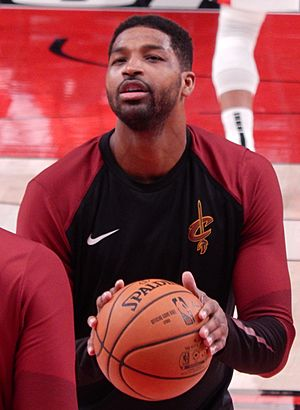 Tristan Thompson against the Portland Trail Blazers (cropped)