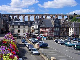 Morlaix with its viaduct in the background