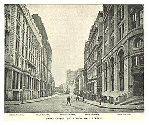 (King1893NYC) pg161 BROAD STREET, SOUTH FROM WALL STREET