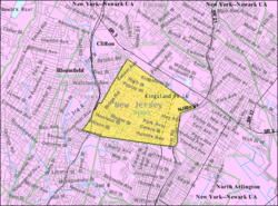 Census Bureau map of Nutley, New Jersey