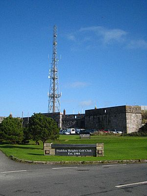 Communications mast at Staddon Fort - geograph.org.uk - 1555278