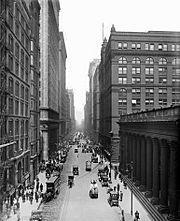 LaSalle Street from old Chicago Board of Trade Building