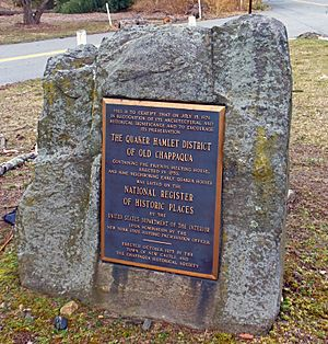 Old Chappaqua Historic District marker