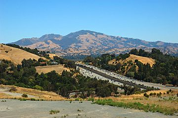 View of Mount Diablo and CA highway 24 from Lafayette Hights.jpg