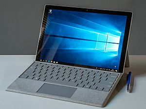 2019 02 Microsoft Surface Pro 2017 with signature type cover