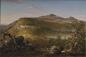 Thomas Cole - A View of the Two Lakes and Mountain House, Catskill Mountains, Morning (1844) - Google Art Project