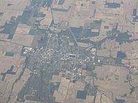View of Winchester from the air
