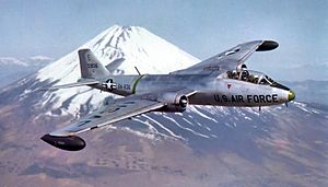 3d Bombardment Group B-57C 53-836 by Mount Fuji