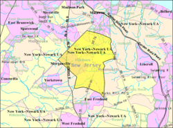 Census Bureau map of Marlboro Township, New Jersey