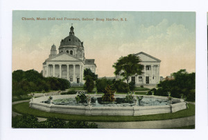 Church, Music Hall and Fountain, Sailors' Snug Harbor, Staten Island (NYPL b15279351-105046)f