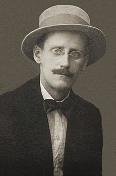 James Joyce by Alex Ehrenzweig, 1915 cropped