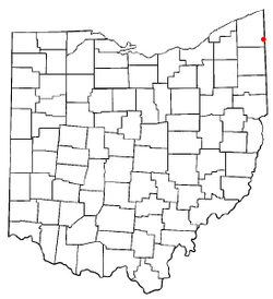 Location of Andover, Ohio