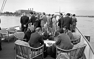 President Gerald Ford Holds a Cabinet Meeting Aboard the USS Sequoia