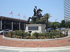 Andrew Jackson statue in front of Jacksonville Landing