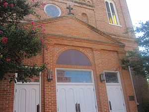 Church of the Immaculate Conception sign in Natchitoches, LA IMG 1966