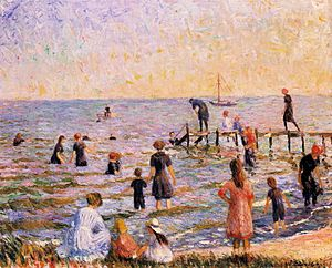 William Glackens - Bathing at Bellport, Long Island