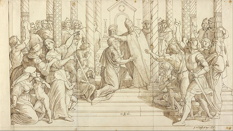 Julius Schnorr von Carolsfeld (German - The Coronation of Charlemagne - Google Art Project