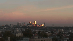 Kansas City Skyline at sunset1221