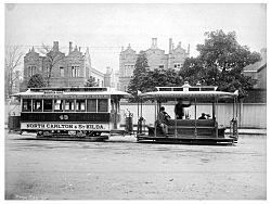 Melbourne cable tram 1905