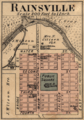 Rainsville Indiana map from 1877 atlas