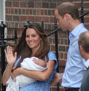The Duke and Duchess of Cambridge with Prince George-crop