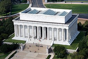 Aerial view of Lincoln Memorial - east side EDIT