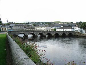 Bridge on the Leitrim River in Wicklow Town - geograph.org.uk - 1437981