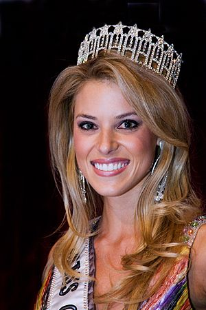 Carrie Prejean, winner of Miss California USA 2009.