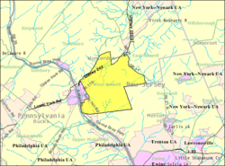 Census Bureau map of West Amwell Township, New Jersey