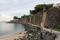 City Wall, San Juan, PR, U.S.A .