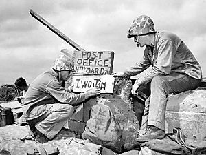 Fourth Division Post Office on Iwo Jima