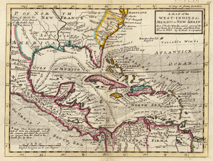 Moll - A Map of the West-Indies