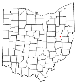 Location of Midvale, Ohio