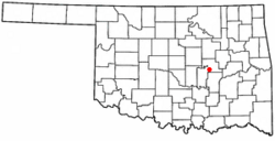 Location of Bearden, Oklahoma