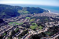 Pacifica California aerial view