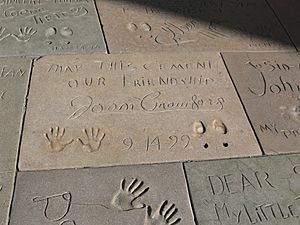 Chinese Theatre courtyard Joan Crawford