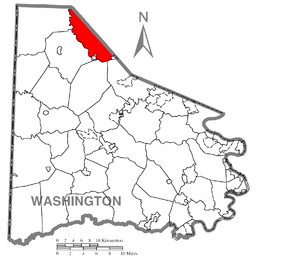 Location of Robinson Township in Washington County