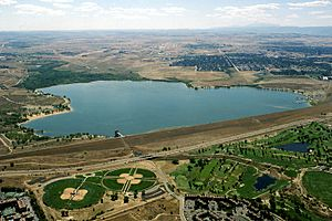 USACE Cherry Creek dam and reservoir