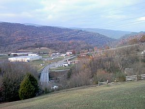 View from Battle at Cedar Branch marker above Saltville