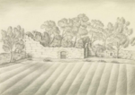 Drawing of Carribber Castle in 1837