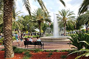 Fountain Walk in Downtown Winter Haven, Florida